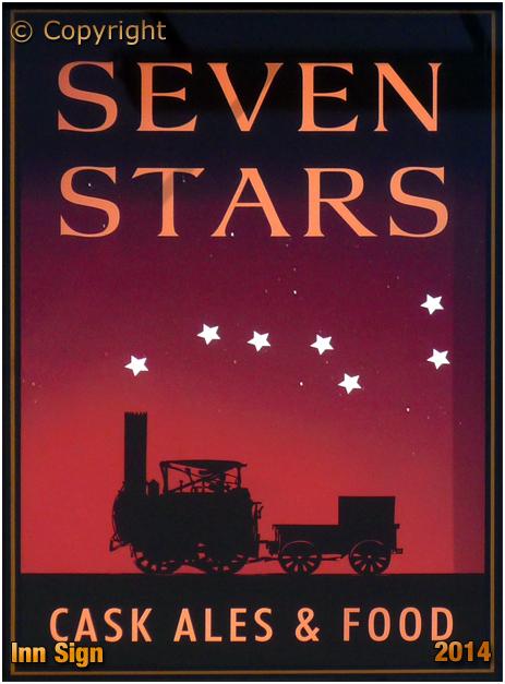 Oldswinford : Inn Sign of the Seven Stars [2014]