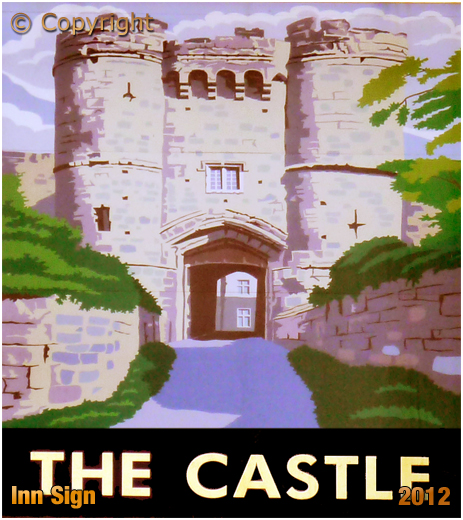 Isle of Wight : Inn Sign of the The Castle at Ryde [2012]