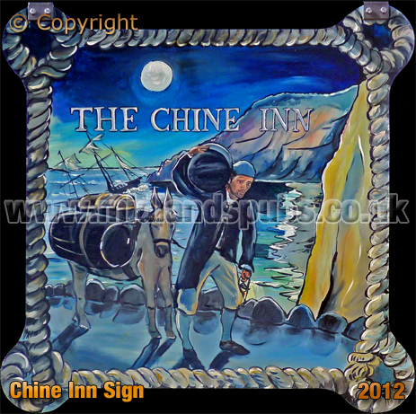 Shanklin : Inn Sign of the Chine Inn [2012]