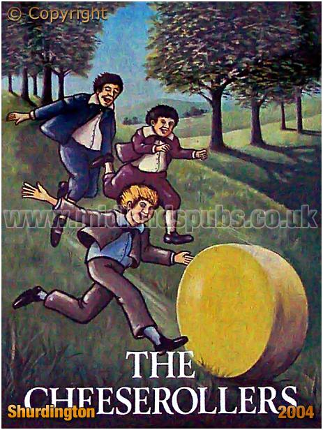 Shurdington : Inn Sign of The Cheese Rollers [2004]