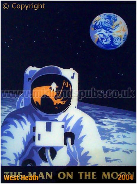Birmingham : Inn Sign of the Man On The Moon at West Heath in Northfield [2004]