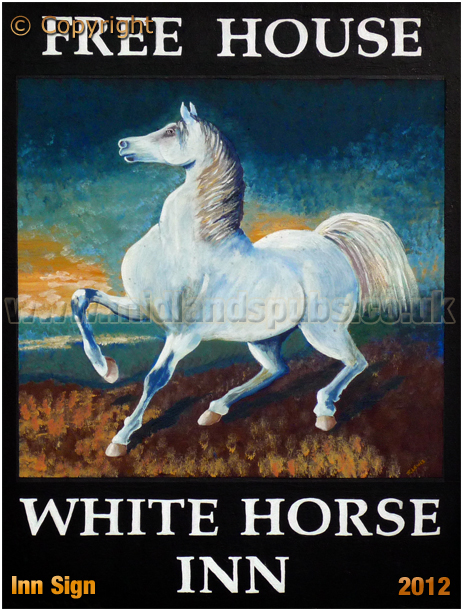 Isle of Wight : Inn Sign of the White Horse Inn at Whitwell [2012]
