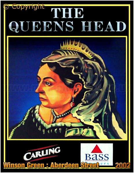 Birmingham : Inn Sign of the Queen's Head in Aberdeen Street at Winson Green [2002]