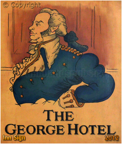 Isle of Wight : Inn Sign of the George Hotel at Yarmouth [2012]