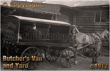 Butcher's Van and Yard of E. Cherry of Leicester [c.1912]