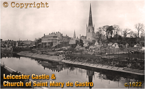 Leicester Castle and Church of Saint Mary de Castro [c.1922]