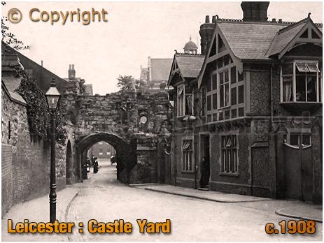 Leicester : Castle Yard [c.1908]