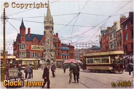 Haymarket Memorial Clock Tower at Leicester [c.1904]