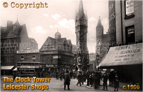 Clock Tower and Shops at Leicester [c.1906]