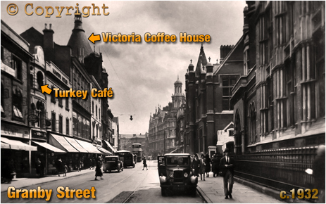 Turkey Café and Victoria Coffee House in Granby Street Leicester [c.1932]