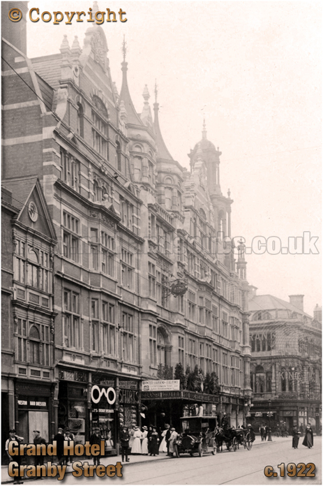 The Grand Hotel on Granby Street in Leicester [c.1922]