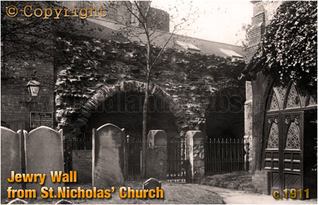 Leicester's Jewry Wall from St.Nicholas' Church [c.1911]