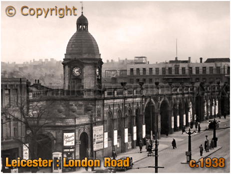 Leicester : London Road and Midland Railway Station [c.1938]