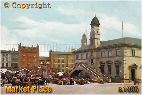 The Market Place at Leicester [c.1903]