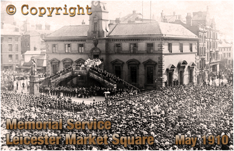 Memorial Service for King Edward VII at Leicester Market Place [May 1910]