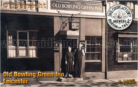 The Old Bowling Green Inn on Oxford Street in Leicester [c.1936]