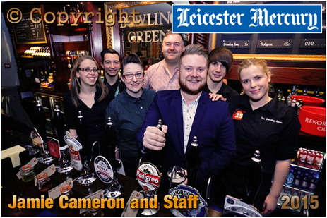 Manager Jamie Cameron and Staff at the Bowling Green [Nov 2015]