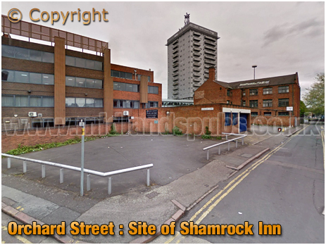 Leicester : Site of the Shamrock Inn at Orchard Street in Leicester [2017]