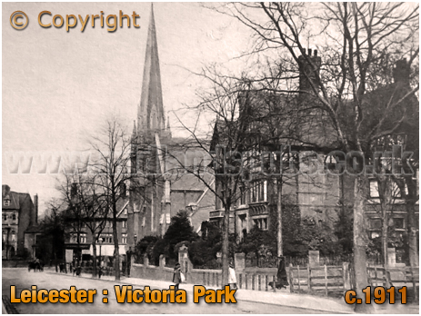 Leicester : Victoria Park and Church [c.1911]