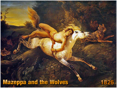 Mazeppa and the Wolves by Horace Vernet [1826]
