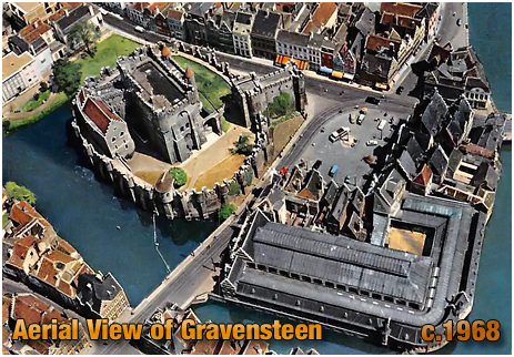 Gent : Aerial View of Gravensteen [c.1968]