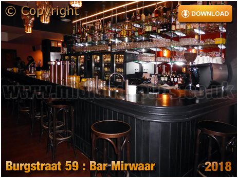 Gent : Servery of Bar Mirwaar at Burgstraat 59 [2018]