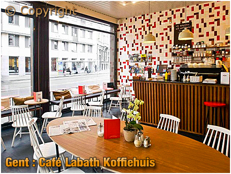 Gent : Café Labath Koffiehuis at at Oude Houtlei 1