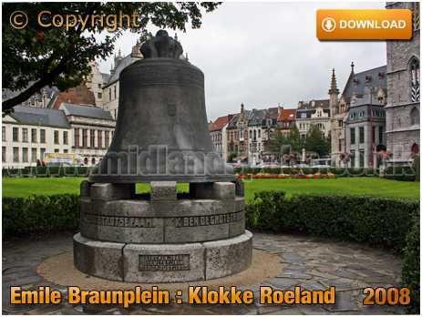 Gent : Klokke Roeland in Emile Braunplein [2008]