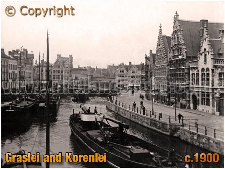 Gent : Graslei and Korenlei [c.1900]