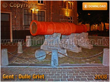 Gent : Café Dulle Griet at Grootkanonplein [2008]