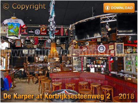 Gent : Interior of Café Karper at Kortrijksesteenweg 2 [2018]