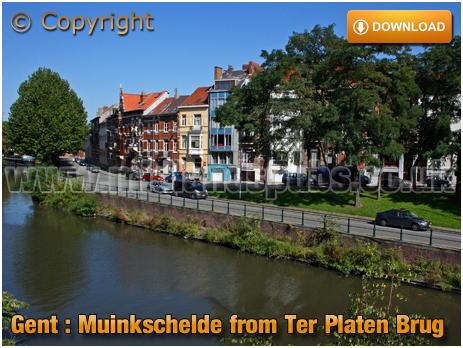 Gent : Muinkschelde from Ter Platen Brug [2008]