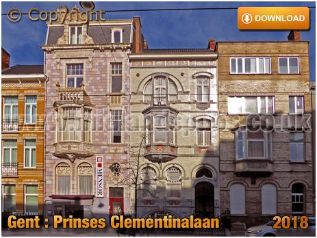 Gent : Art Nouveau House at Prinses Clementinalaan [2018]