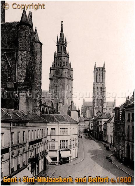 """Gent : Sint""""Niklaaskerk and Belfort [c.1900]"""