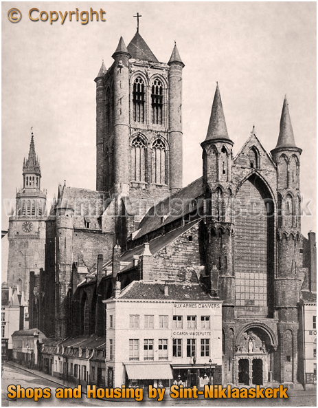 "Gent : Sint""Niklaaskerk with Shops and Housing [c.1895]"