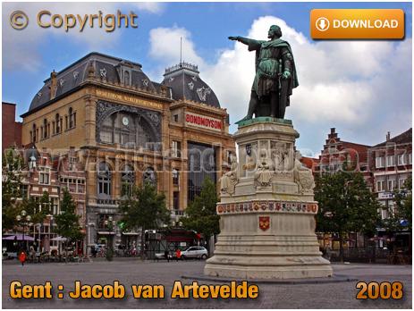 Gent : Vrijdagmarkt and statue of Jacob van Artevelde [2008]