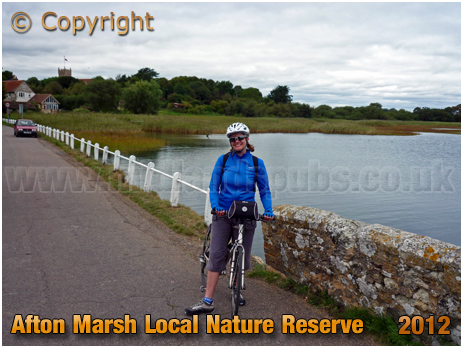 Freshwater : The Causeway at Afton Marsh Local Nature Reserve [2012]