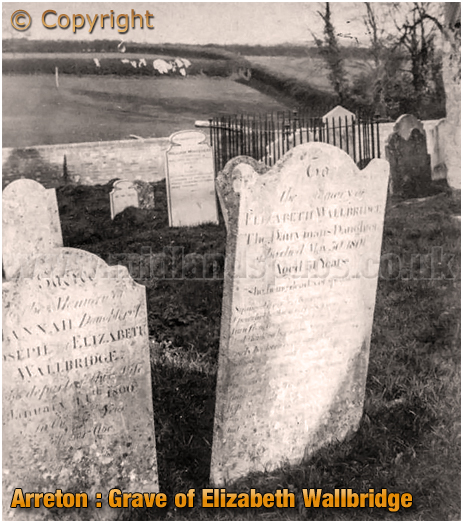 Arreton : Grave of the Dairyman's Daughter Elizabeth Wallbridge [2012]