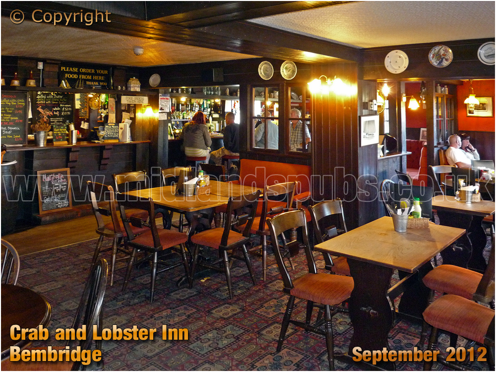Bembridge : Interior of The Crab and Lobster Inn [2012]