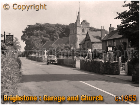 Brighstone Garage and Church [c.1955]
