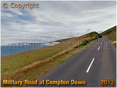 Compton Down : Military Road and Wight Cliffs [2012]