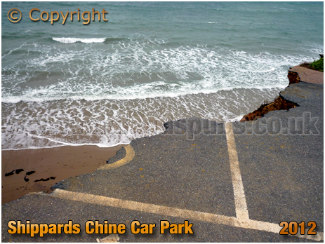 Shippards Chine : Erosion of Car Park [2012]