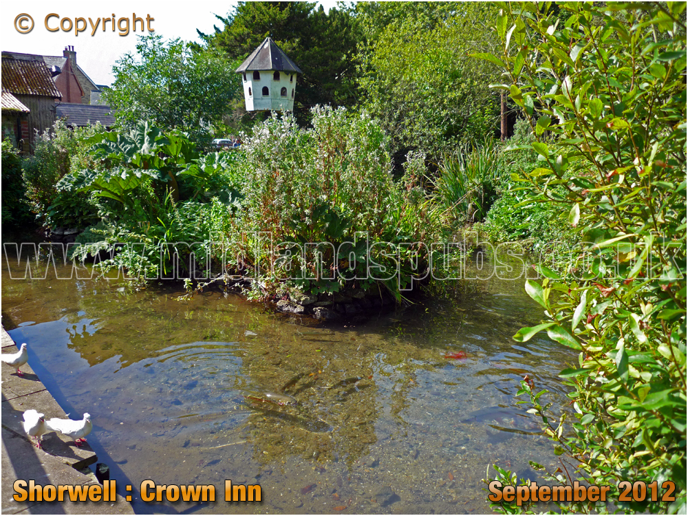 Shorwell : Trout Stream at the Crown Inn [2012]