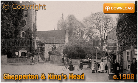 Shepperton : Church of Saint Nicholas and King's Head [c.1908]