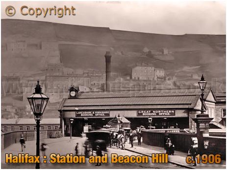 Halifax Railway Station and Beacon Hill [c.1906]