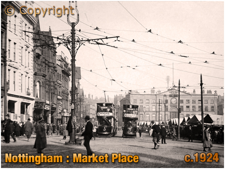 Nottingham : Market Place [c.1924]