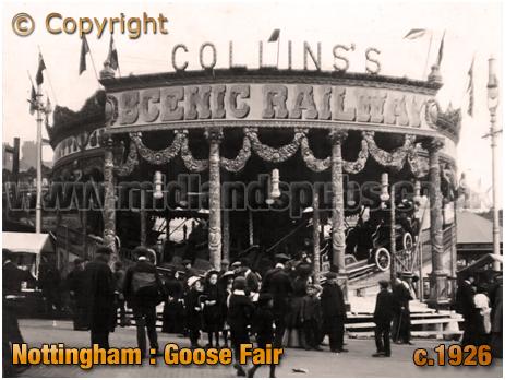 Nottingham : Pat Collins's Scenic Railway Fairground Ride at the Goose Fair [c.1926]