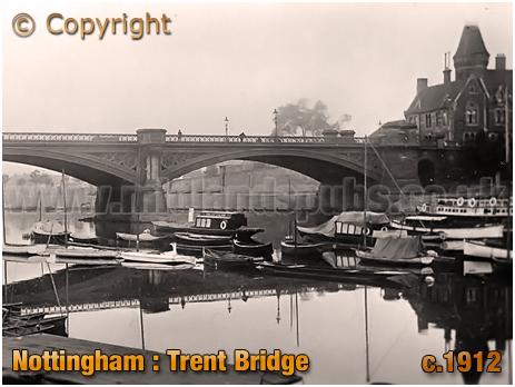 Nottingham : Trent Bridge from the Boat Houses [c.1912]
