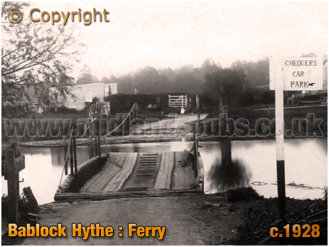 Bablock Hythe : Ferry [c.1928]