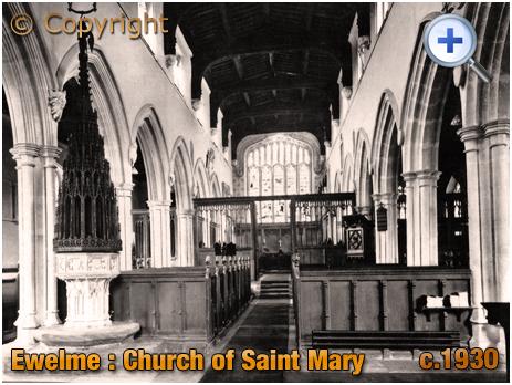 Ewelme : Interior of Saint Mary's Church [c.1920[